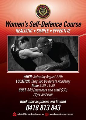 WOMEN'S SELF DEFENCE COURSE
