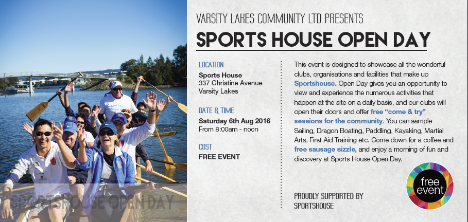 SPORTS HOUSE OPEN DAY 2016